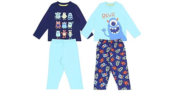 2 x Pijama Azul con Monstruos 5-6 Años 116 cm: Amazon.es: Ropa