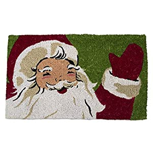 tag - Vintage Santa Happy Holidays Coir Mat, Decorative All-Season Mat for the Front Porch, Patio or Entryway, Multi