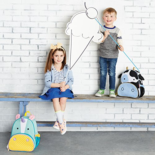 Skip Hop Zoo Little Kid and Toddler Backpack, Cheddar Cow