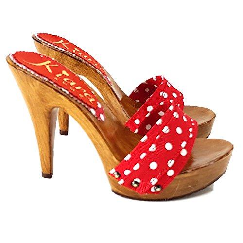 Pois kiara K21101 Zoccoli Rosso shoes wUY8qI