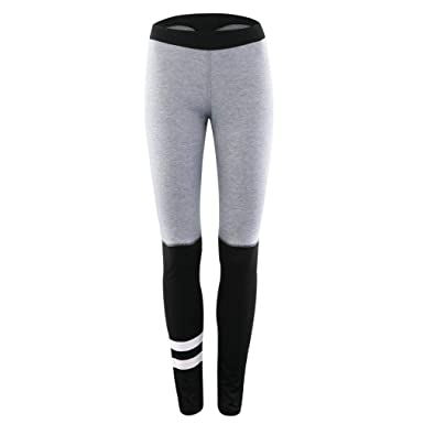 7877d16ecbfd4 Ms Tights Women's Sports Gym Yoga Workout Mid Waist Running Pants Fitness  Elastic Leggings Patchwork Bodybuilding