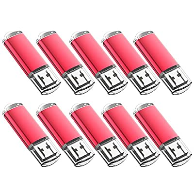 JUANWE 10 Pack USB Flash Drive USB 2.0 Thumb Drives Jump Drive Memory Stick Pen from JUANWE