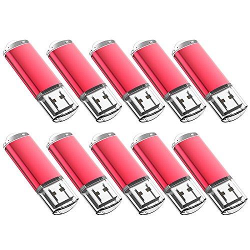 JUANWE 20 Pack 2GB USB Flash Drive USB 2.0 Thumb Drives Jump Drive Memory Stick Pen - Red