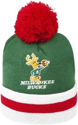 Amazon.com   Mitchell   Ness Milwaukee Bucks Jersey Stripe NBA Knit Hats    Sports   Outdoors 97589542caee