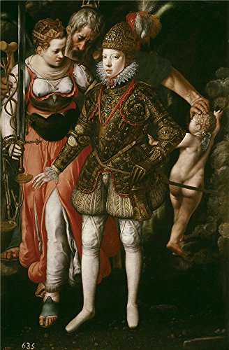 Perfect Effect Canvas ,the Vivid Art Decorative Canvas Prints Of Oil Painting 'Tiel Justus Alegoria De La Educacion De Felipe III Ca. 1590 ', 8 X 12 Inch / 20 X 31 Cm Is Best For Bar Decoration And Home Decor And Gifts