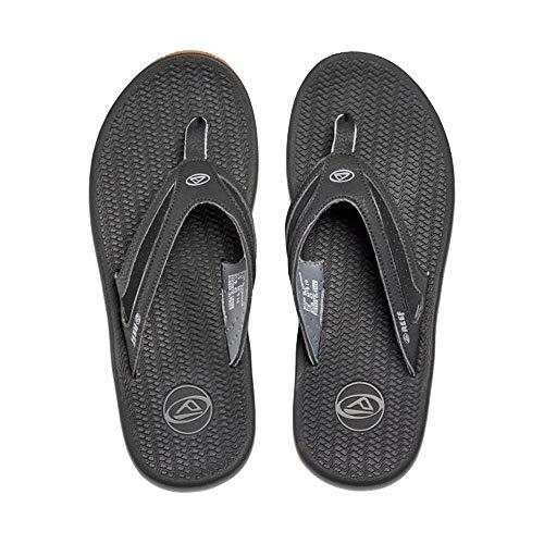 (Reef Men's Flex Sandal, Black/Silver, 10 M US)