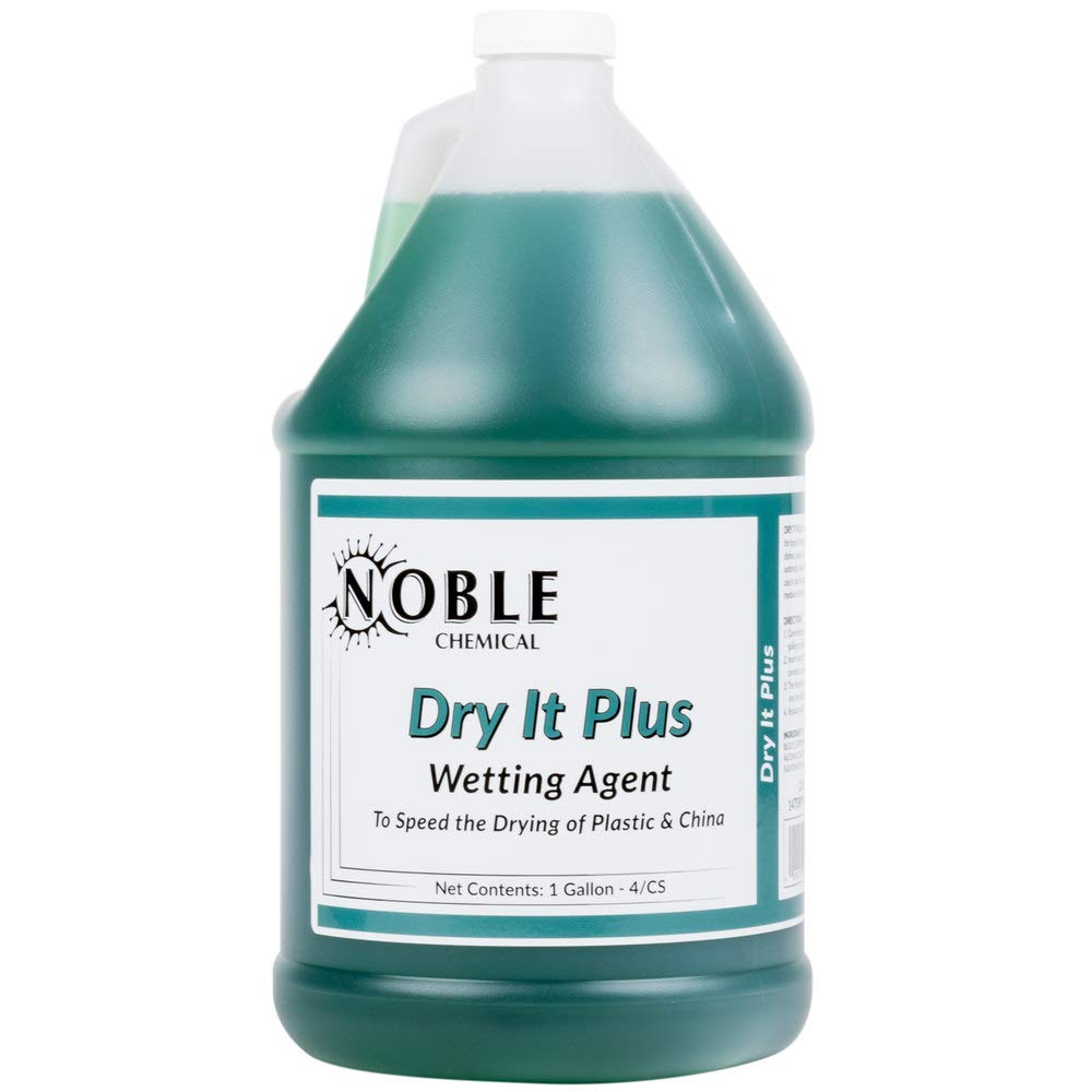 Noble Chemical 1 Gallon / 128 oz. Dry It Plus Rinse Aid for High Temperature Dish Machines - Pack of 4