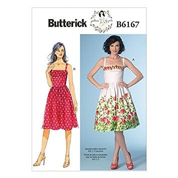 Butterick Nähmuster 6167 Fitted Mieder Kleid mit Einsatz: Amazon.de ...