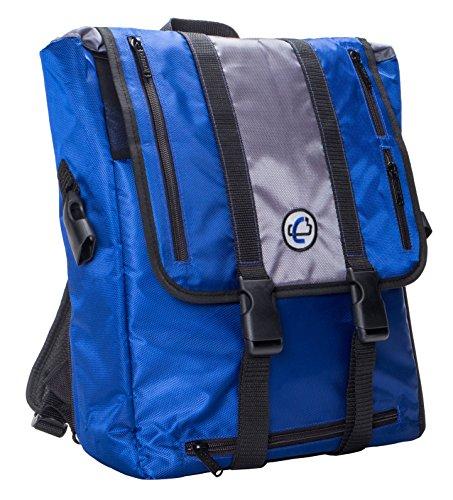 Case-it Case-It BKP-102 Laptop Backpack with Hide-Away Binder Holder, Fits 13-Inch Laptops, Blue/Grey (BKP-102 BLUG)
