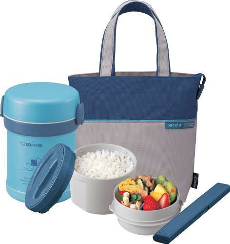 Zojirushi SL-MEE07AB Ms.Bento Stainless Lunch Jar, Aqua Blue
