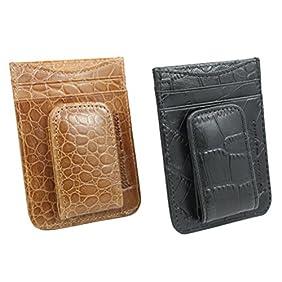 Men's Leather Wallet Credit Card ID Holder Money Clip