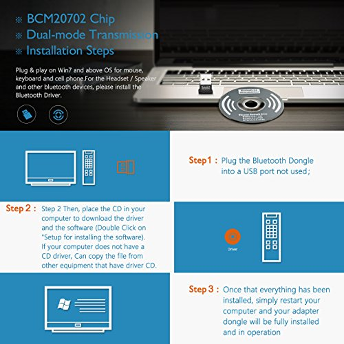 Mpow Bluetooth USB Adapter for PC, Bluetooth Dongle for - Import It All