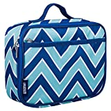 Lunch Box, Wildkin Lunch Box, Insulated, Moisture Resistant, and Easy to Clean with Helpful Extras for Quick and Simple Organization, Ages 3+, Perfect for Kids or On-The-Go Parents – Zigzag Lucite