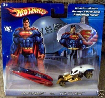2006 Hot Wheels DC Superman vs. Lex Luthor 2-Pack Wild Thing Blue/Red & 1/4 Mile Coupe (0.25 Mile Coupe)