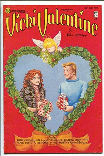 Barb Paper - VICKI VALENTINE #2 1985-BILL WOGGON-BARB RAUSCH-PAPER DOLLS-FASHION-CHRISTMAS-fn