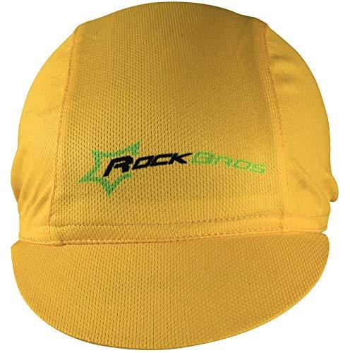 9d297b5d38e05b Hysenm Tour De France Polyester Breathable Sweat Absorbent Cycling Sports Sun  Hat Helmet Liner Champion Cap (Yellow)
