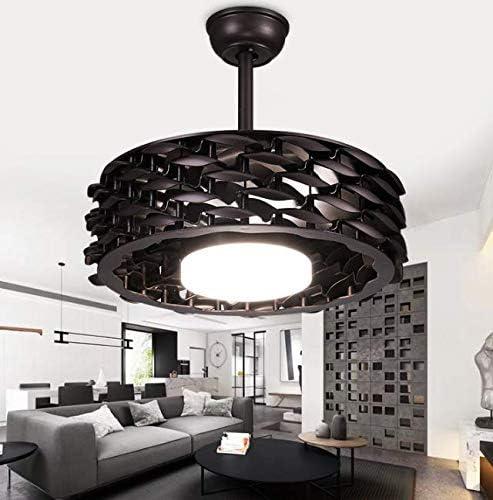 Leafless Deckenventilator Lampe, Wohnzimmer Schlafzimmer Deckenleuchte Frequenzumsetzung Moderne Smart Home-Lampen-Beleuchtung