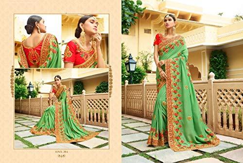 754 Vestono Donne Le EMPORIUM Seta 100 ETHNIC Nozze Progettista del Bollywood Originali Tradizionali Ultime di Indiano Etniche Si Nuziali del F5UOfxwf