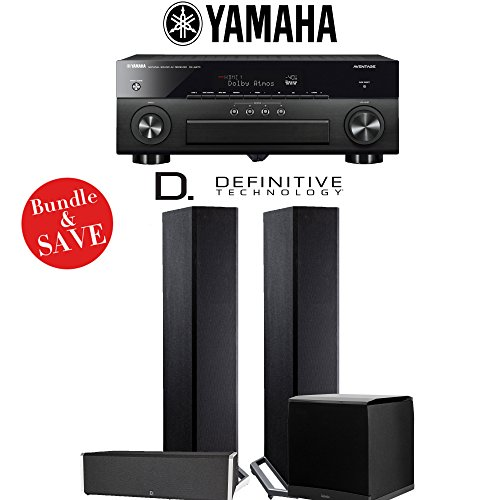 Definitive Technology BP9020 3.1-Ch High Performance Home Theater System with Yamaha AVENTAGE RX-A870BL 7.2-Channel 4K Network A/V Receiver by Definitive Technology