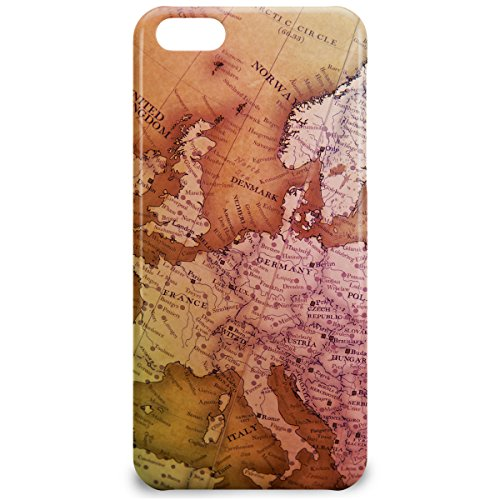 Phone Case For Apple iPhone 5C - Antique Europe Map Hard Glossy