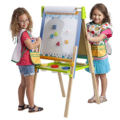 (ECR4Kids 3-in-1 Premium Standing Adjustable Art Easel with Accessories for Kids Play Time )