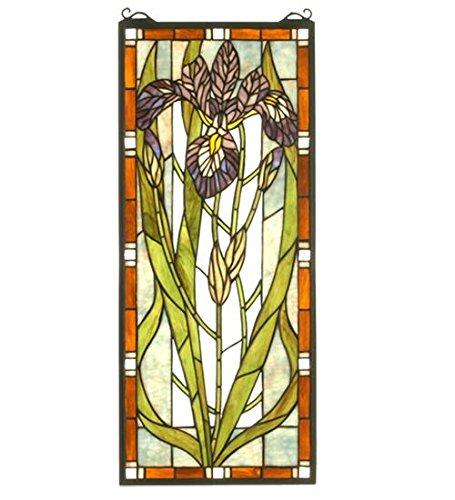 Meyda Tiffany 69829 Iris Stained Glass Window Panel, 12