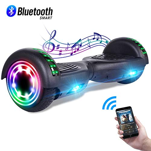 """CBD 6.5"""" Hoverboard w/Bluetooth Speaker, Self Balancing Hoverboard for Kids with LED Lights, UL 2272 Certified Bluetooth Black Hoverboard"""