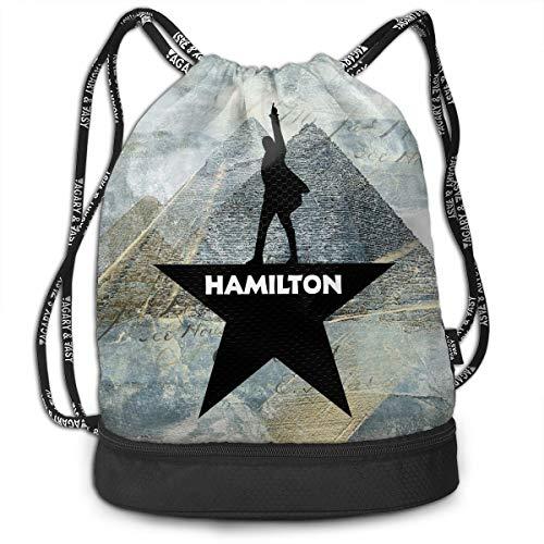 Cheny Drawstring Backpack Musicals Hamilton Sports Gym Cinch Sack Bag for Women Men Girls Gymsack -