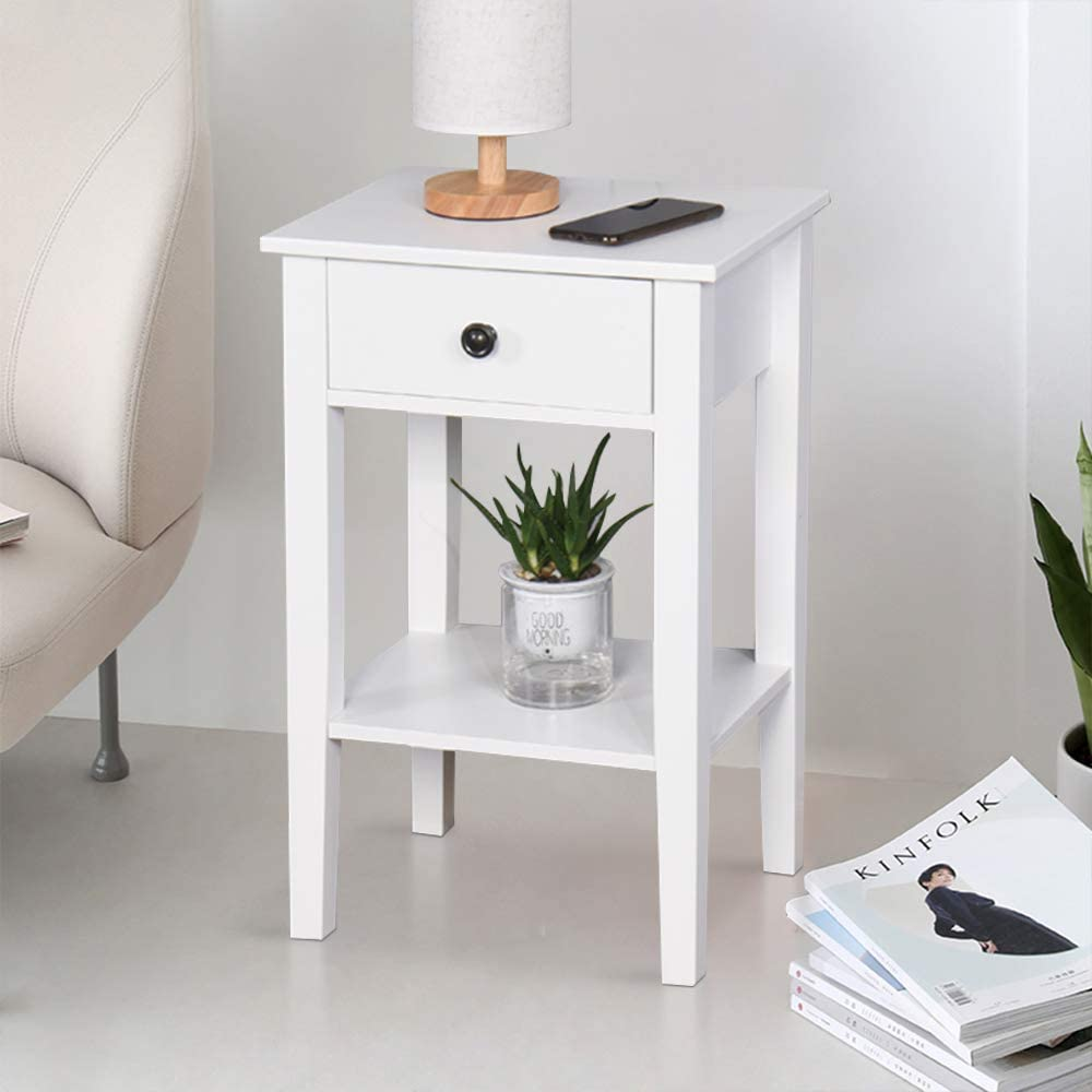 Nightstand Side End Table Accent Sofa Chair Stand Living Room Bedroom w// Drawer
