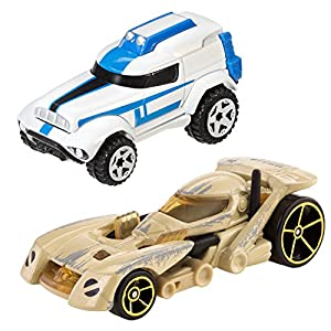 hot wheels star wars character car 2 pack 501st clone trooper vs battle droid