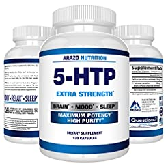 5-HTP 200 mg Supplement - 120 Capsules -...