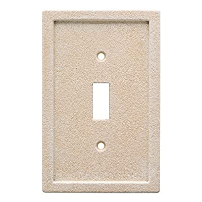 Franklin Brass W30351-346-C Tumbled Textured Tile Single Switch Faux Stone Wall Plate/Switch Plate/Cover, Light Sand