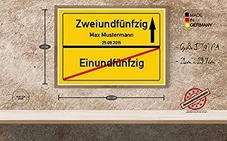 Druck-Geschenk 52 años Placa de Regalo 52 cumpleaños - 50 ...
