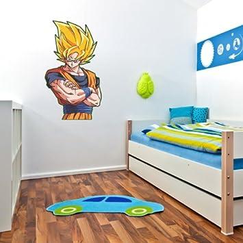 Amazoncom Dragon Ball Z Son Goku Wall Graphic Decal Sticker - Dragon ball z wall decals