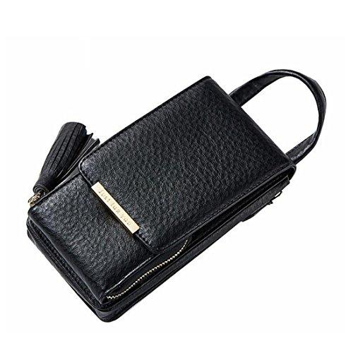 Tsutou à Black Mobile Color Bag Tassel Chain Sac Mobile Pink Messenger Sac bandoulière Femmes Phone Main à gqYrPga