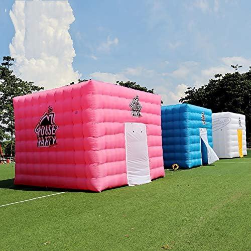 Personalizado Inflable del Cubo Carpa 4.6X4.6X3.6 Metros Cuadrados del Patio Trasero Partes Tent Juguetes Play House con el Ventilador,Blanco