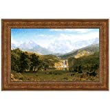 Design Toscano The Rocky Mountains, Lander's Peak, 1863 Canvas Replica Painting: Small