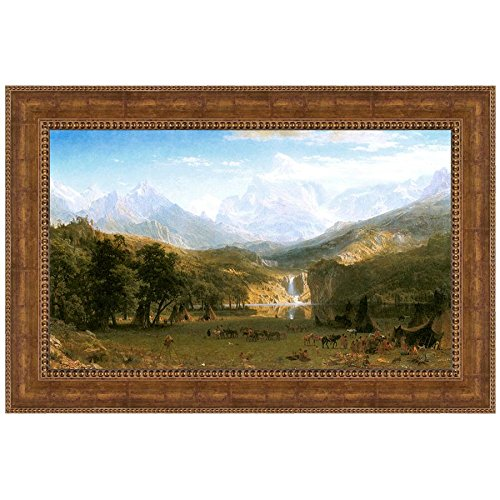 Design Toscano The Rocky Mountains, Lander's Peak, 1863 Canvas Replica Painting: Small by Design Toscano