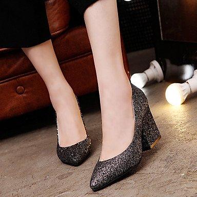 2 ggx Stoff Sommer Heels Rot 5 cm High Unter black Schwarz Damen Silber Frühling LvYuan Walking Blockabsatz OwpIqdd