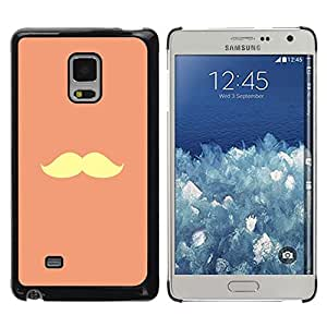 iKiki Tech / Estuche rígido - Handlebar Moustache Peach Yellow Vignette - Samsung Galaxy Mega 5.8 9150 9152