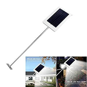 Ultra-thin 15 LED Waterproof Solar Wall Light Street Light Garden Lamp Landscape Lamp Outdoor Auto ON/OFF At Night
