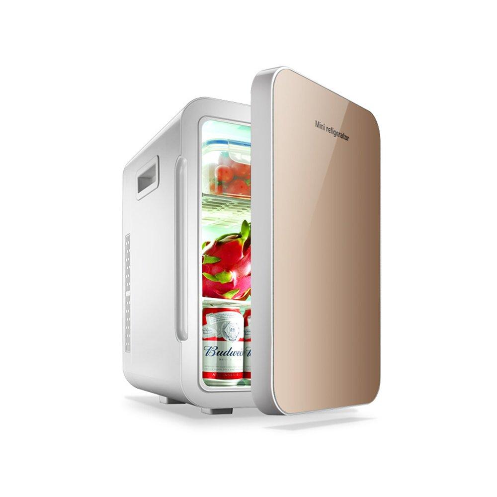 YQQ B07K82CN8Q 22L小型冷蔵庫 デュアルコア冷却 ゴールド 車の冷蔵庫 (色 小型家庭用冷蔵庫 寮の部屋 冷凍 ポータブルコールドボックス 旅行 (色 : シルバー しるば゜) B07K82CN8Q ゴールド ゴールド, PC&家電《CaravanYU》:7e9de515 --- itxassou.fr