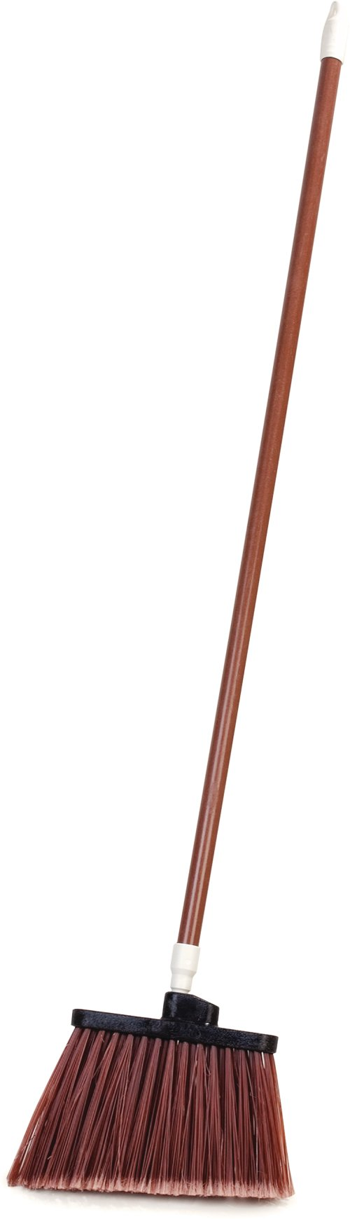 Carlisle 4108201 Sparta Duo-Sweep Flagged Angle Broom with Fiberglass Handle, 54'' Length, Brown (Pack of 12)