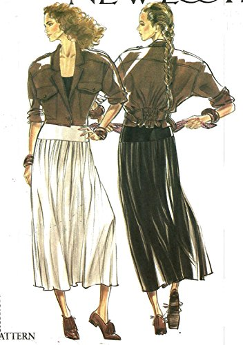 - New Look vintage sewing pattern 6125 cropped jacket and skirt - Size 8-18