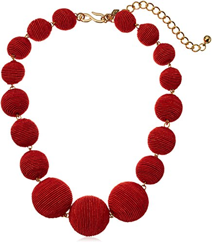 Kenneth Jay Lane Coral Thread Ball Necklace, 17