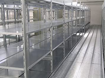 metal shelf shelves for warehouse zinc modular 128x80x300h office rh amazon co uk steel shelves for warehouse shelves for warehouse use
