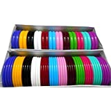 Am Multicolor Plastic Bangle Set For Women
