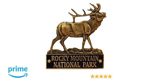 ce5f1479b48 Amazon.com   Rocky Mountain National Park - 3D Elk - Hiking Stick Medallion    Everything Else