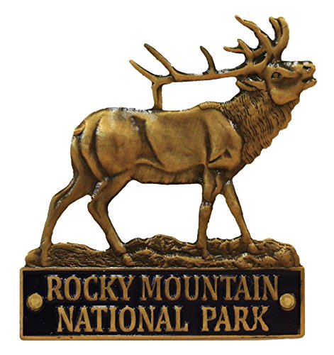Rocky Mountain National Park - 3D Elk - Hiking Stick Medallion ()