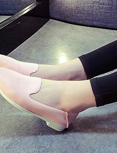 libero Piatto Tempo Ballerina Donna Bianco Finta Rosa Silver Casual Argento pelle Formale Sportivo gyht Mocassini Scarpe ShangYi Sq4Xp4